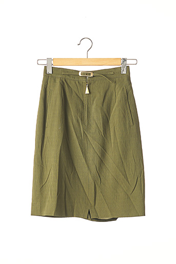 Jupe mi-longue vert DINO VALIANO pour femme