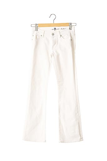 Jeans bootcut blanc FOR ALL MANKIND pour femme