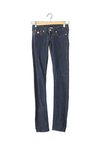 Jeans coupe slim bleu TRUE RELIGION pour femme