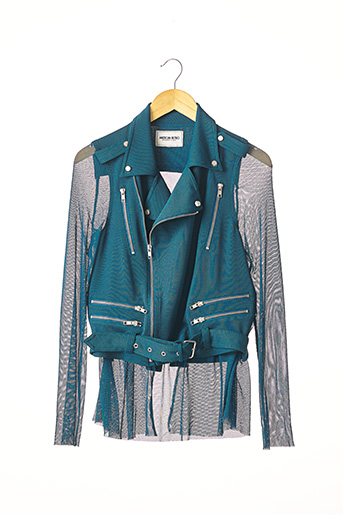 Veste casual bleu AMERICAN RETRO pour femme