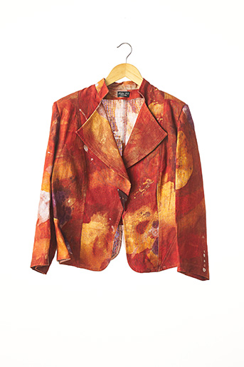 Veste casual rouge ANNE FO pour femme