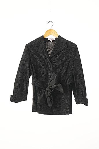 Veste chic / Blazer noir STEPHA pour femme