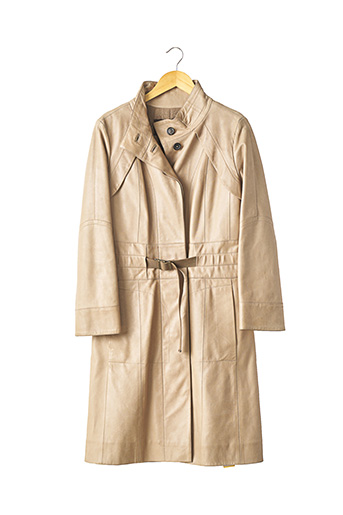 Veste en cuir beige LOUIS VUITTON pour femme
