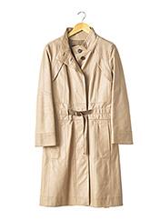 Veste en cuir beige LOUIS VUITTON pour femme seconde vue