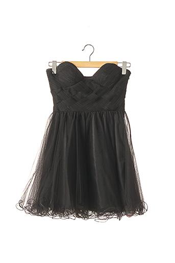Robe courte noir FAUST pour femme