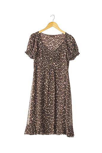 Robe mi-longue marron APOSTROPHE pour femme