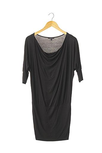Robe mi-longue noir AXARA pour femme