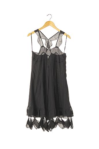 Robe mi-longue noir CACHAREL pour femme