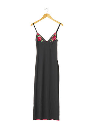 Robe longue noir CAPUCINE PUERARI pour femme
