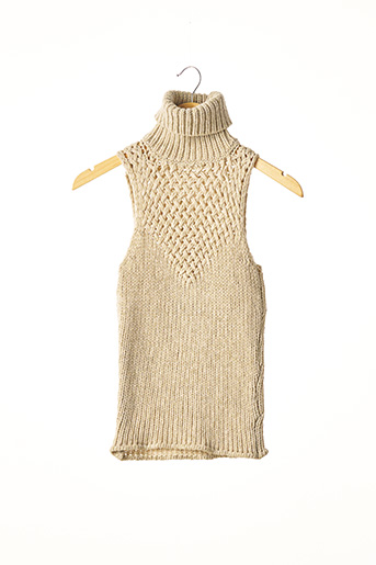 Pull col roulé beige ANTI-FLIRT pour femme