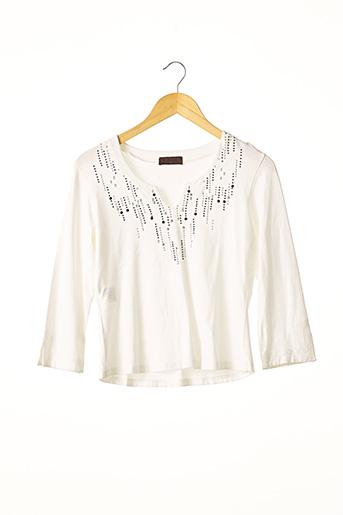 T-shirt manches longues blanc DEVERNOIS pour femme