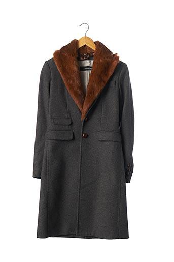 Manteau long gris DSQUARED pour femme