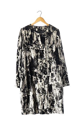 Manteau long noir DIDIER PARAKIAN pour femme