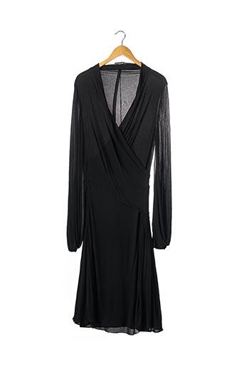 Robe longue noir ALEXANDER MCQUEEN pour femme