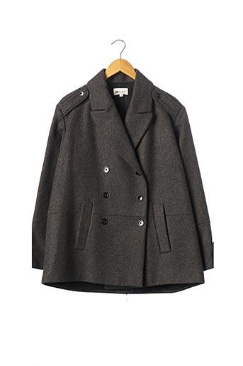 Manteau court gris VANESSA BRUNO pour femme