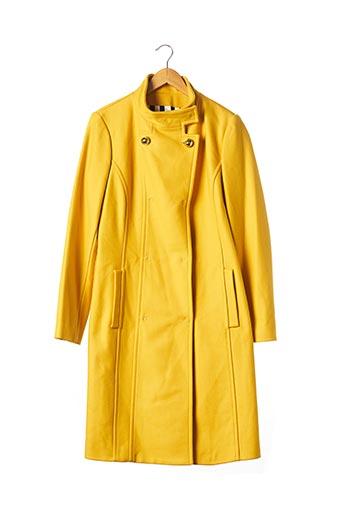 Manteau long jaune FRANKIE MORELLO pour femme