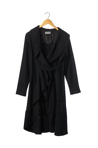 Manteau long noir ANTONELLO SERIO pour femme