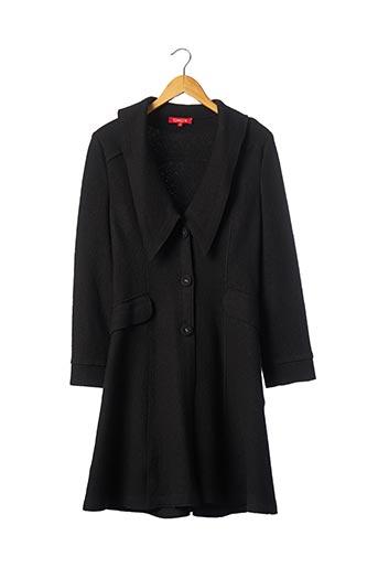 Manteau long noir CHACOK pour femme