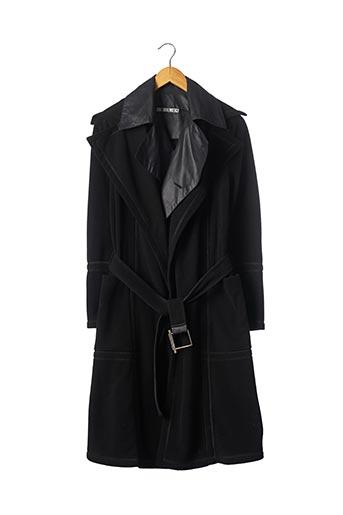 Manteau long noir DIRK BIKKEMBERGS pour femme