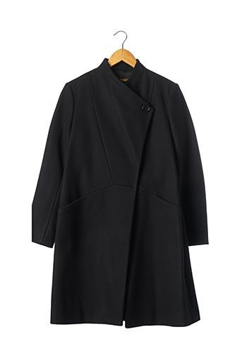 Manteau long noir MAJE pour femme