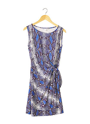 Robe courte bleu DIANE VON FURSTENBERG pour femme