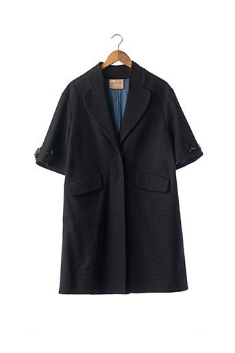 Manteau long bleu ERIKA CAVALLINI pour femme