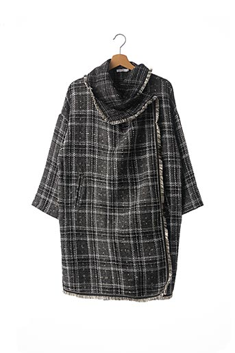 Manteau long gris BRIGITTE BARDOT pour femme