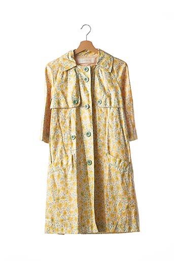 Manteau long jaune CACHAREL pour femme