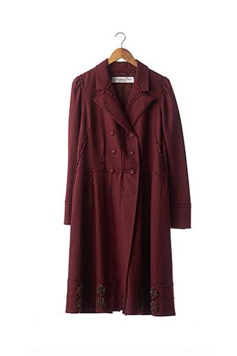 Manteau long rouge CHRISTIAN DIOR pour femme