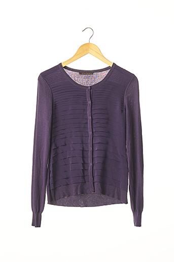 Gilet manches longues violet APOSTROPHE pour femme