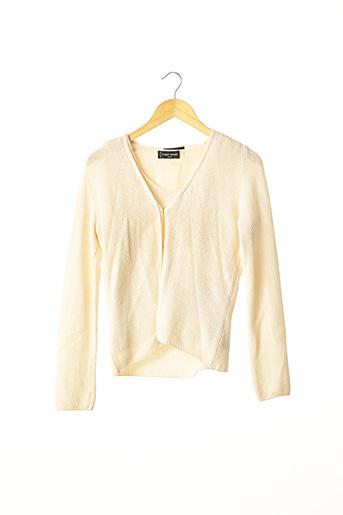 Twin-set beige FRANCK NAMANI pour femme