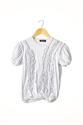 T-shirt manches courtes gris COMME DES GARCONS pour femme