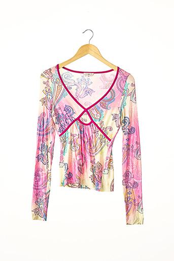 T-shirt manches longues rose ETRO  pour femme