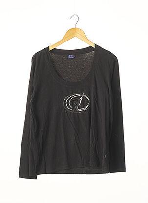 T-shirt manches longues noir TRUSSARDI JEANS pour femme