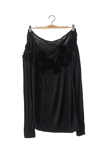 Pull tunique noir ETINCELLE pour femme