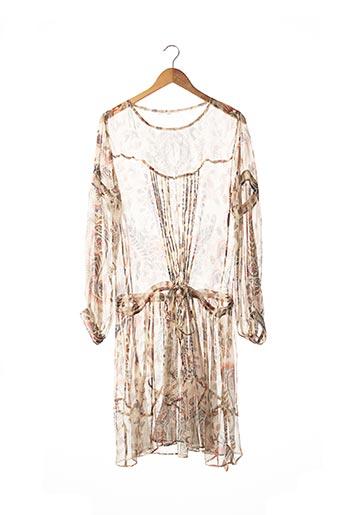 Robe mi-longue beige AMBRE BABZOE pour femme
