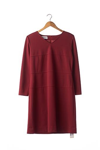 Robe mi-longue rouge BLEU MARINE DESIGN pour femme