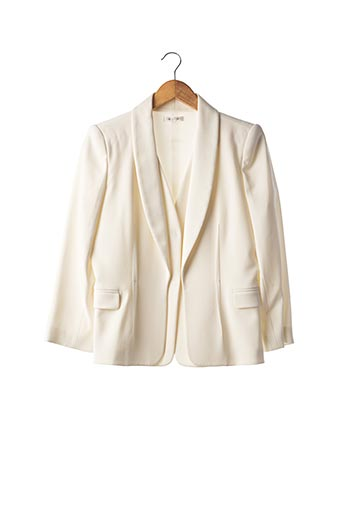 Veste chic / Blazer beige PAULE KA pour femme
