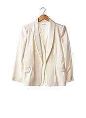 Veste chic / Blazer beige PAULE KA pour femme seconde vue