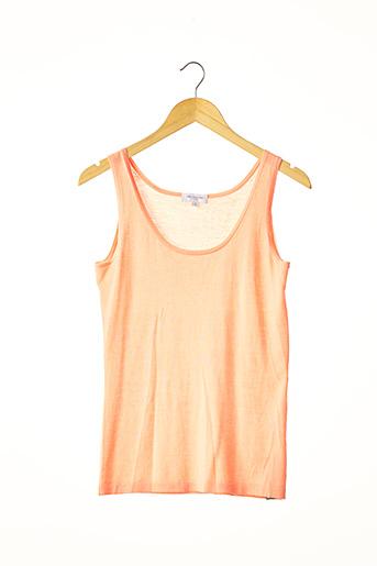 Pull col rond orange ERIC BOMPARD pour femme
