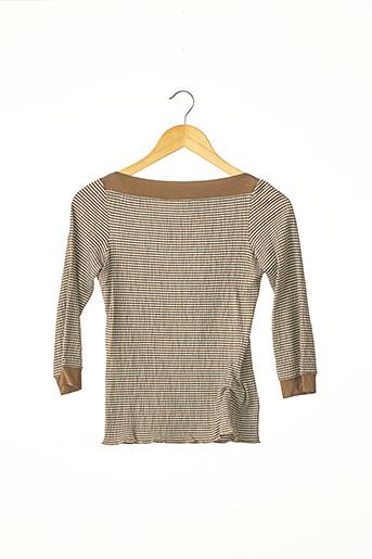 T-shirt manches longues marron ARMANI pour femme