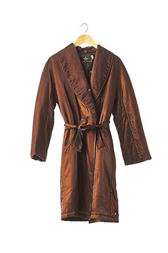 Manteau long marron FENDI pour femme