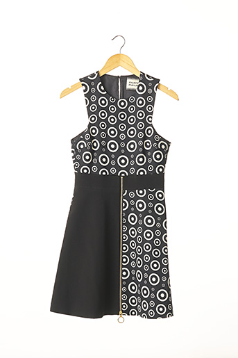 Robe mi-longue noir FAUSTO PUGLISI pour femme