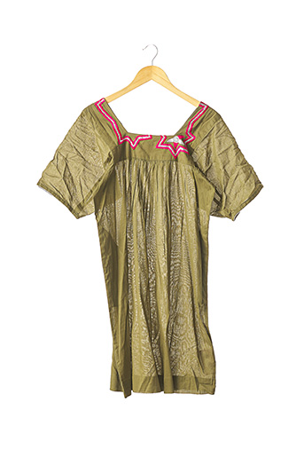 Robe mi-longue vert FRAGONARD pour femme