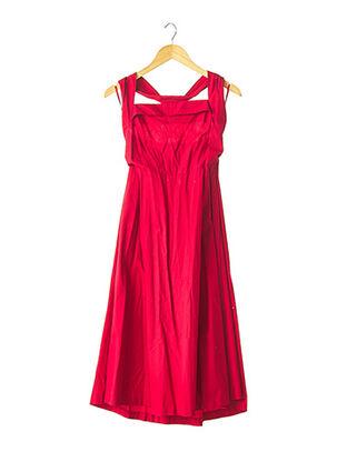 Robe mi-longue rouge EMMANUELLE KHANH pour femme