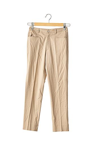 Pantalon casual beige BOB SHOP pour femme
