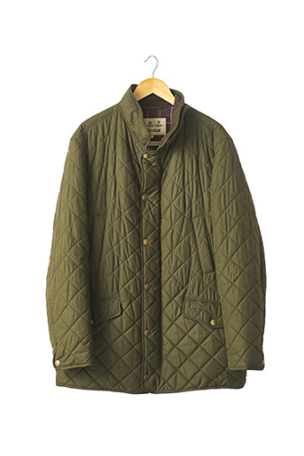 Manteau court vert BARBOUR pour homme