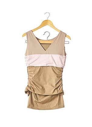 Top/jupe beige PAULE KA pour femme