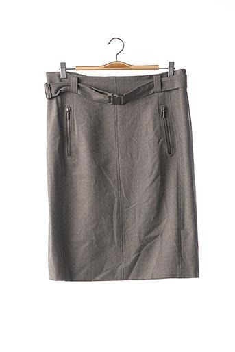 Jupe mi-longue gris AKRIS pour femme