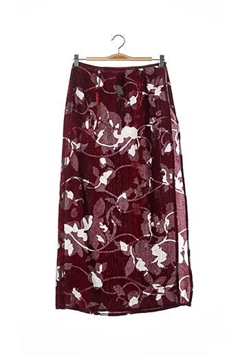 Jupe mi-longue rouge CHACOK pour femme